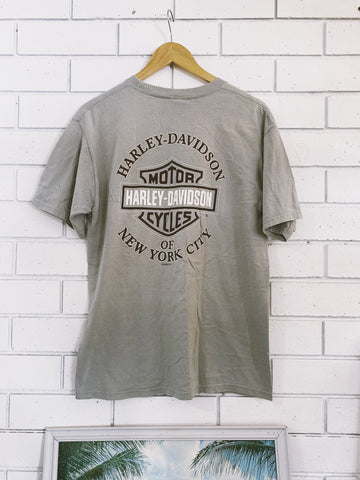 Vintage Harley New York City Grey T-Shirt - Medium