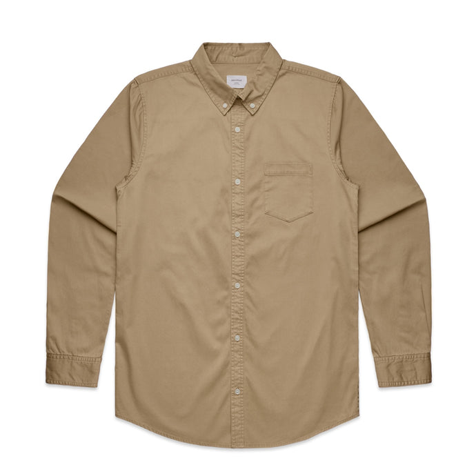 Denim Weave Shirt - Khaki