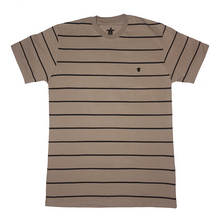 Load image into Gallery viewer, Turtl3 Co 'Stripe - Khaki' Tee
