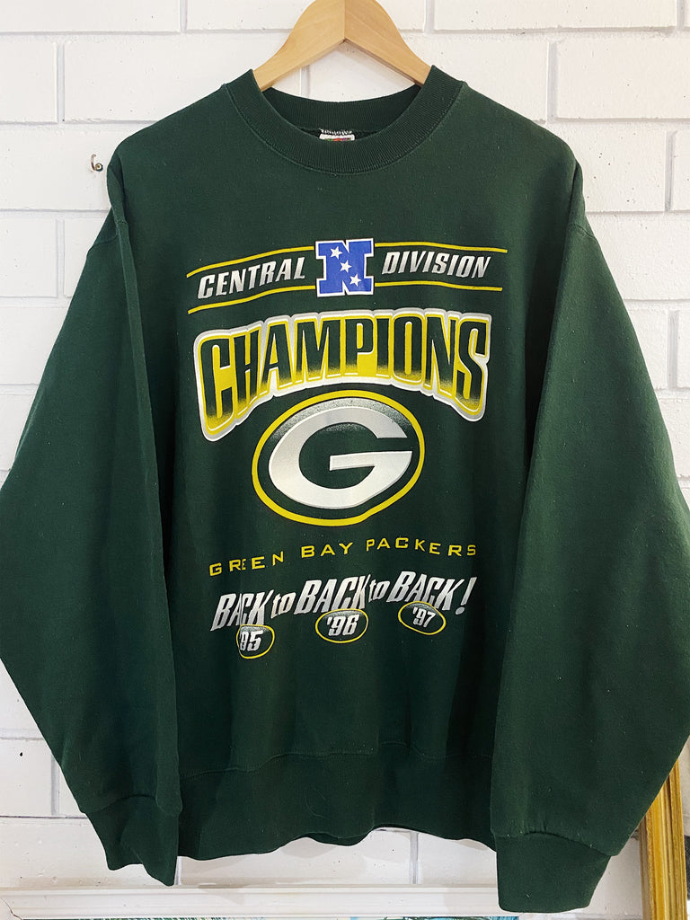 Vintage Sports - Heavy Green Bay Packers Green Sweatshirt - Large