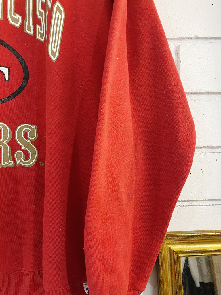 Vintage Sports - Russell San Francisco 49ers Red Sweatshirt - XLarge