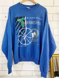 Vintage Sports - Minnesota Timberwolves Blue Sweatshirt - XLarge