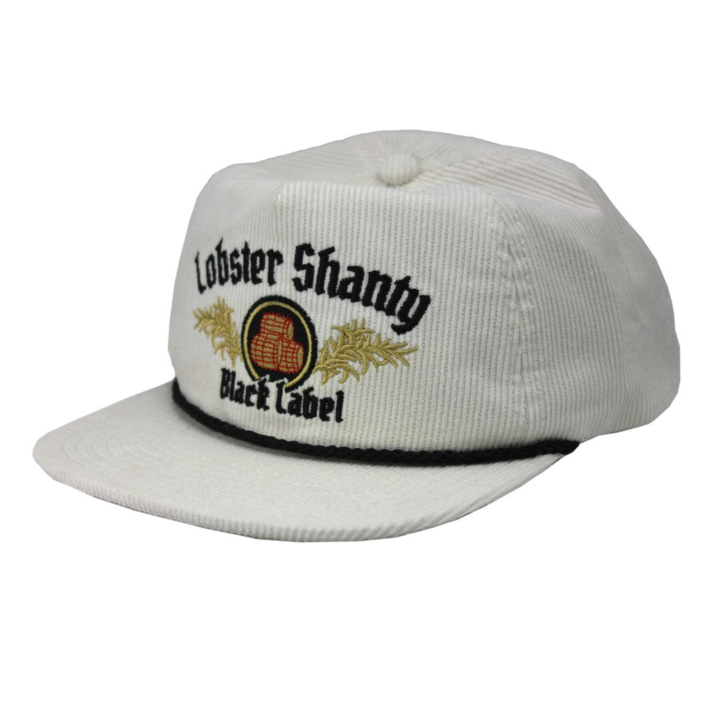 Lobster Shanty Black Label White Corduroy Cap