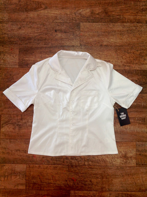 Pre-loved satin bed shirt - small