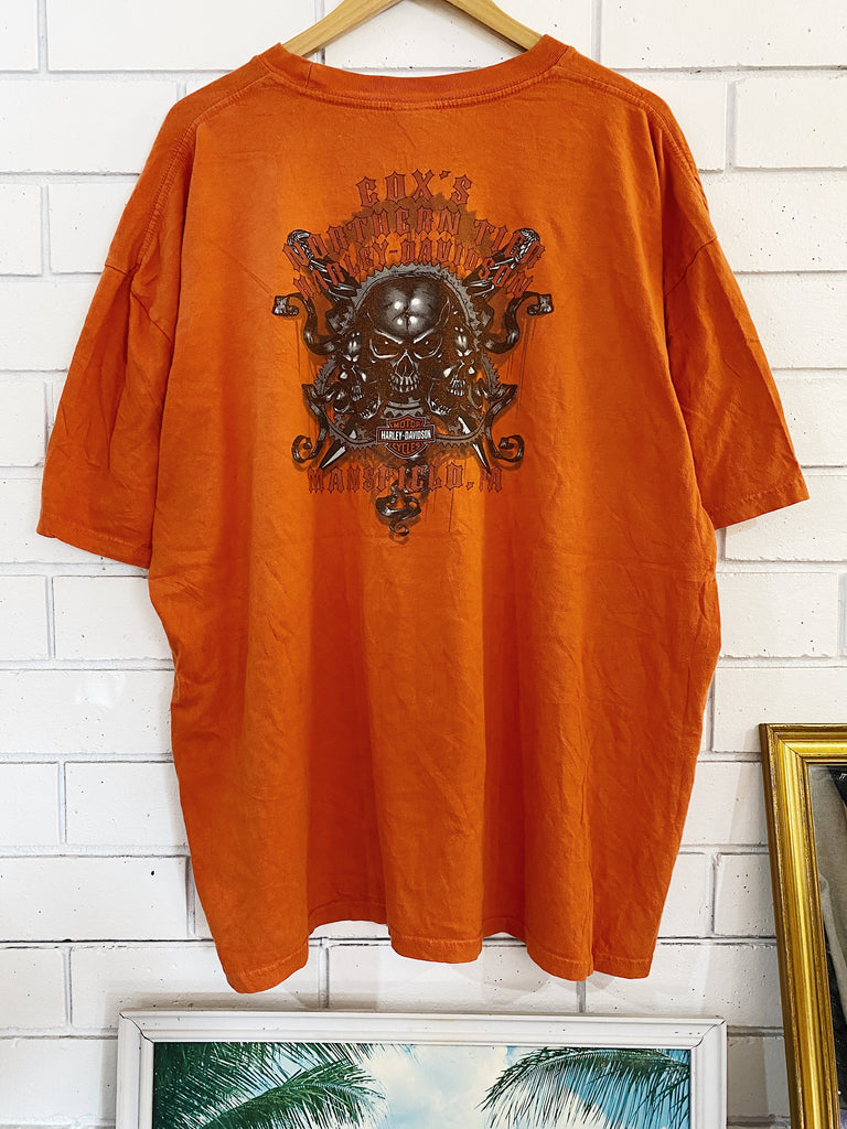 Preloved Harley - Coxs Mansfield Orange Tee - 2XLarge