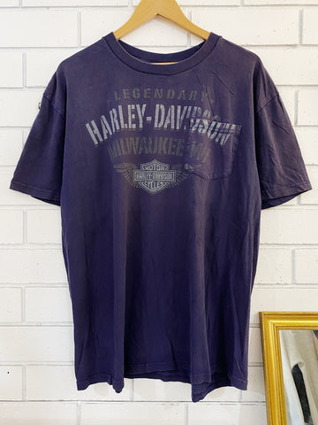 Preloved Harley - Woodstock Purple Pocket Tee - XLarge