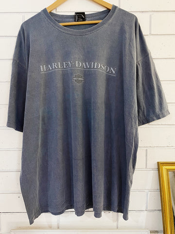 Preloved Harley - St Thomas Faded Blue Tee - 2XLarge