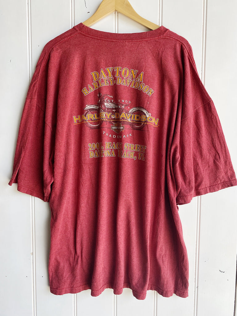 Vintage Harley - Daytona 2005 Red Pocket Tee - 3XLarge