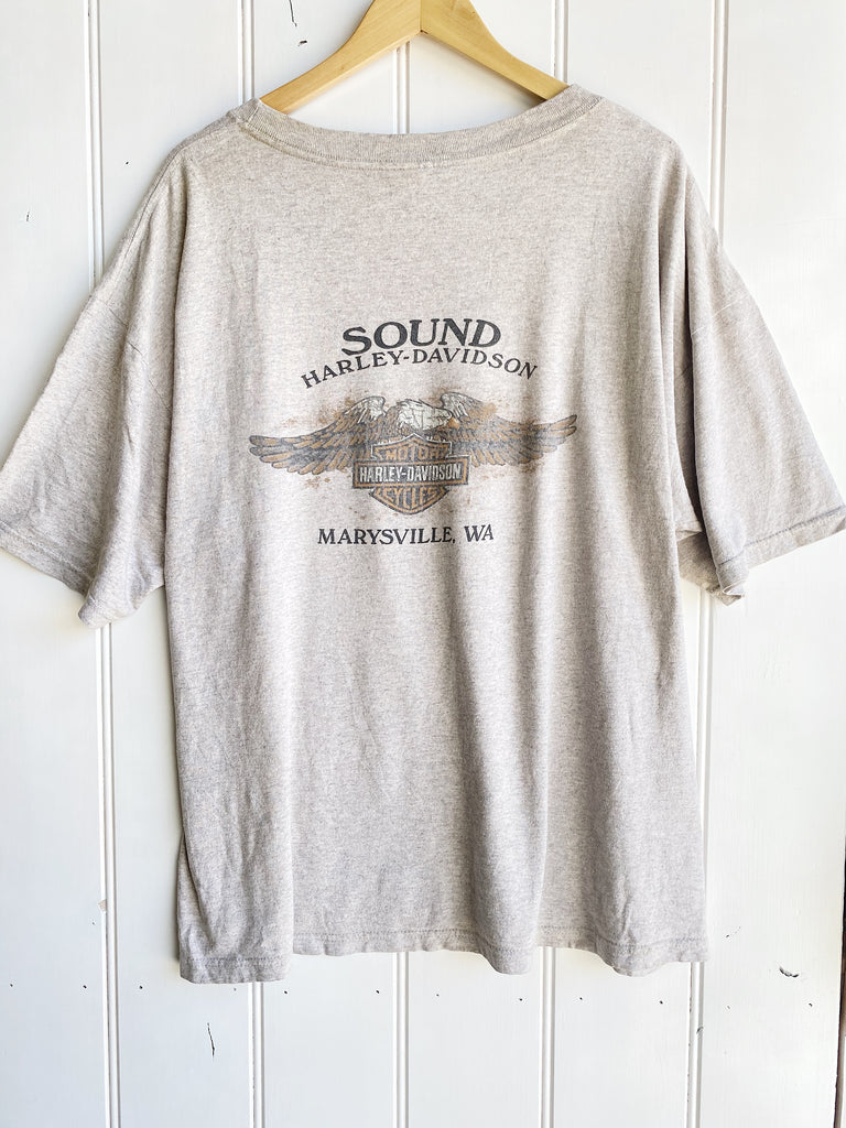 Vintage Harley - Sounds Marysville Grey Tee - XLarge