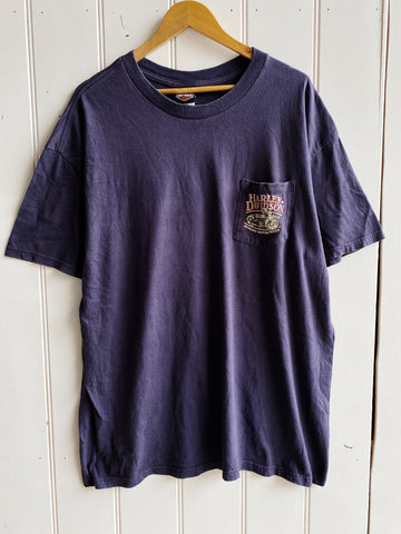 Preloved Harley - Key West Purple Pocket Tee - 2XLarge