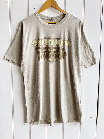 Preloved Harley - Steel Horse Tan Tee - Large