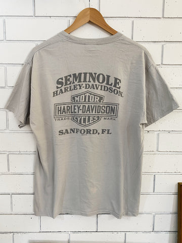 Preloved Harley - Seminole Sanford Grey Tee - Large