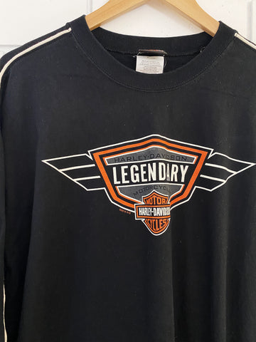 Preloved Harley - Legendary Black Longsleeve Tee - XLarge