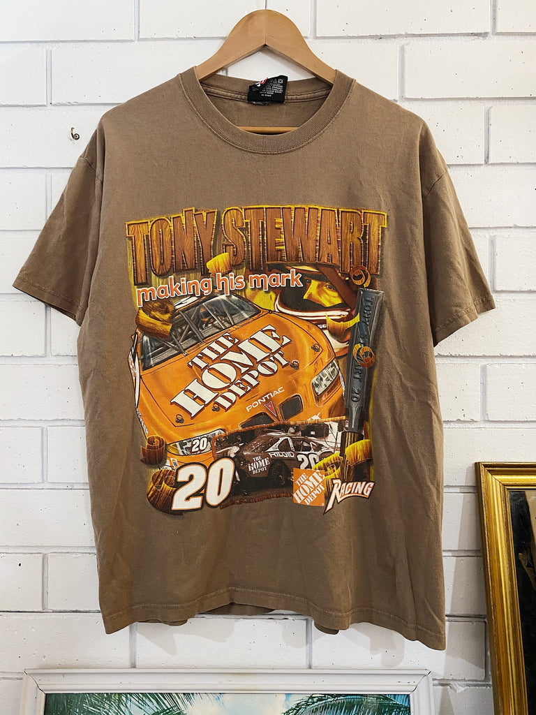 Vintage Nascar - Tony Stewart 20 Brown Tee - Large