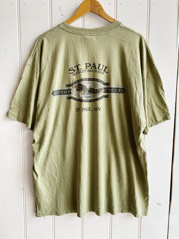 Preloved Harley - St Paul Green Tee - XLarge