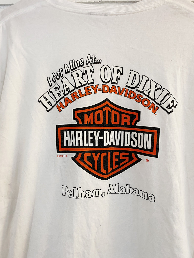 Preloved Harley - Pelham Alabama White Tee - 2XLarge