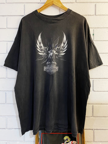 Vintage Harley - 99 Nevada Vegas Faded Black Tee - 3XLarge