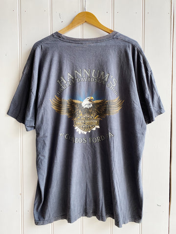 Vintage Harley - Hannums Eagle Faded Navy Tee - 3XLarge