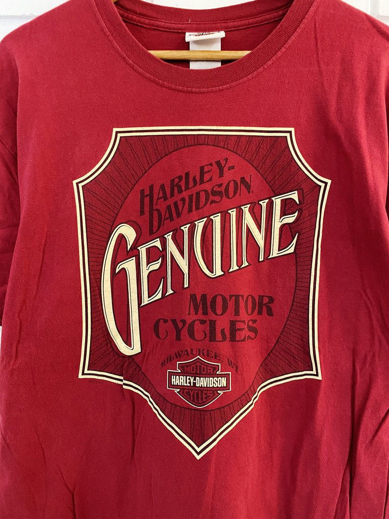 Preloved Harley - Genuine Destination Red Tee - Large