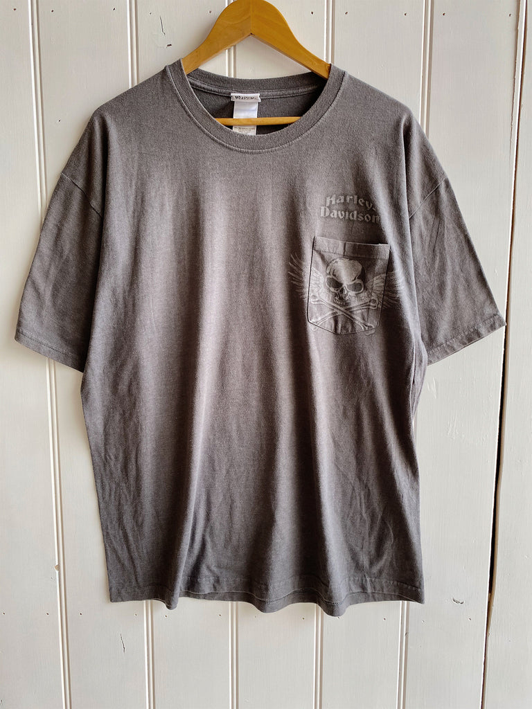 Preloved Harley - Legacy Effingham Dark Grey Tee - XLarge