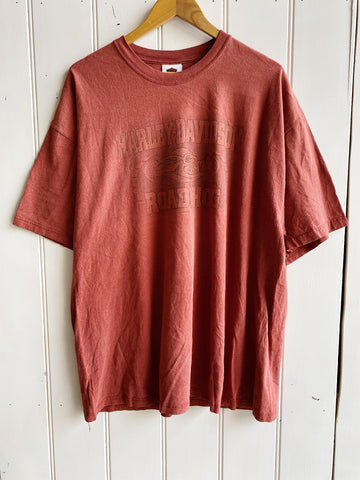 Vintage Harley - Road Hog Brick Red Tee - 2XLarge