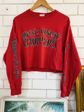 Vintage Motorcycles - West Coast Choppers Longsleeve Crop - Large
