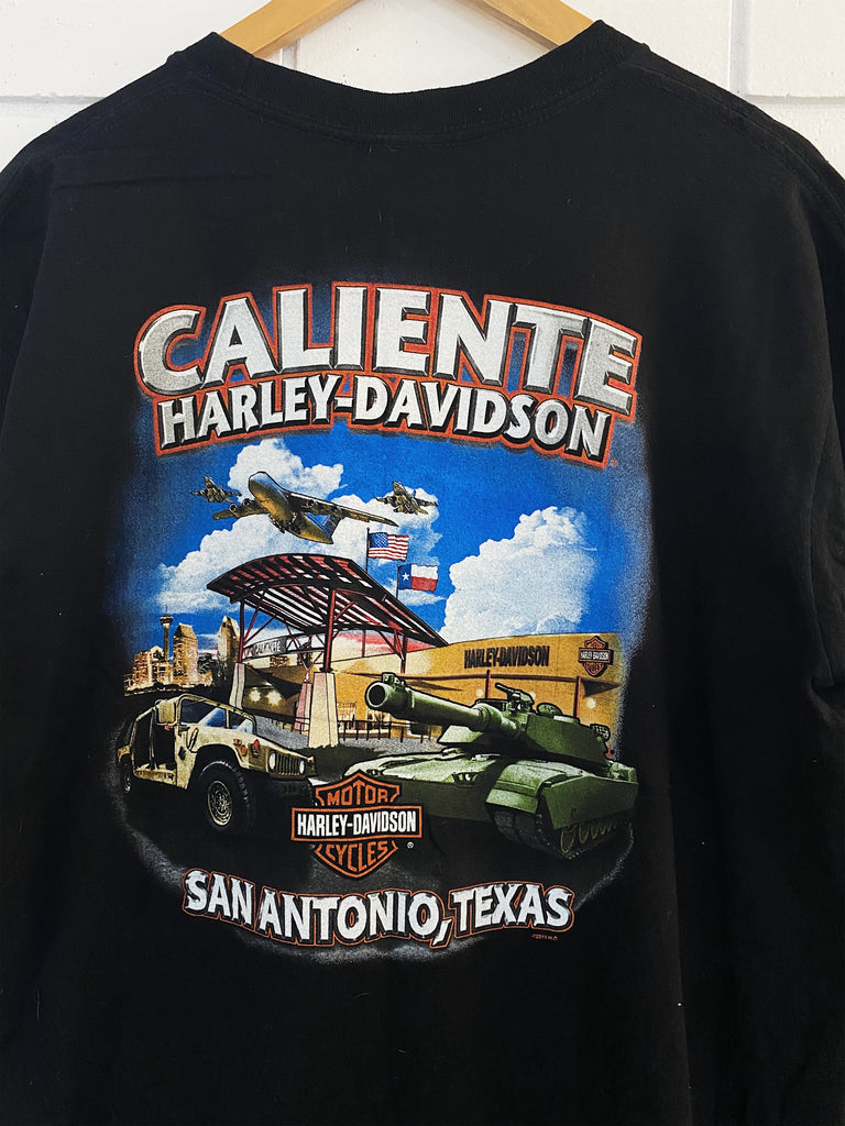 Preloved Harley - Caliente Texas Black Tee - XLarge