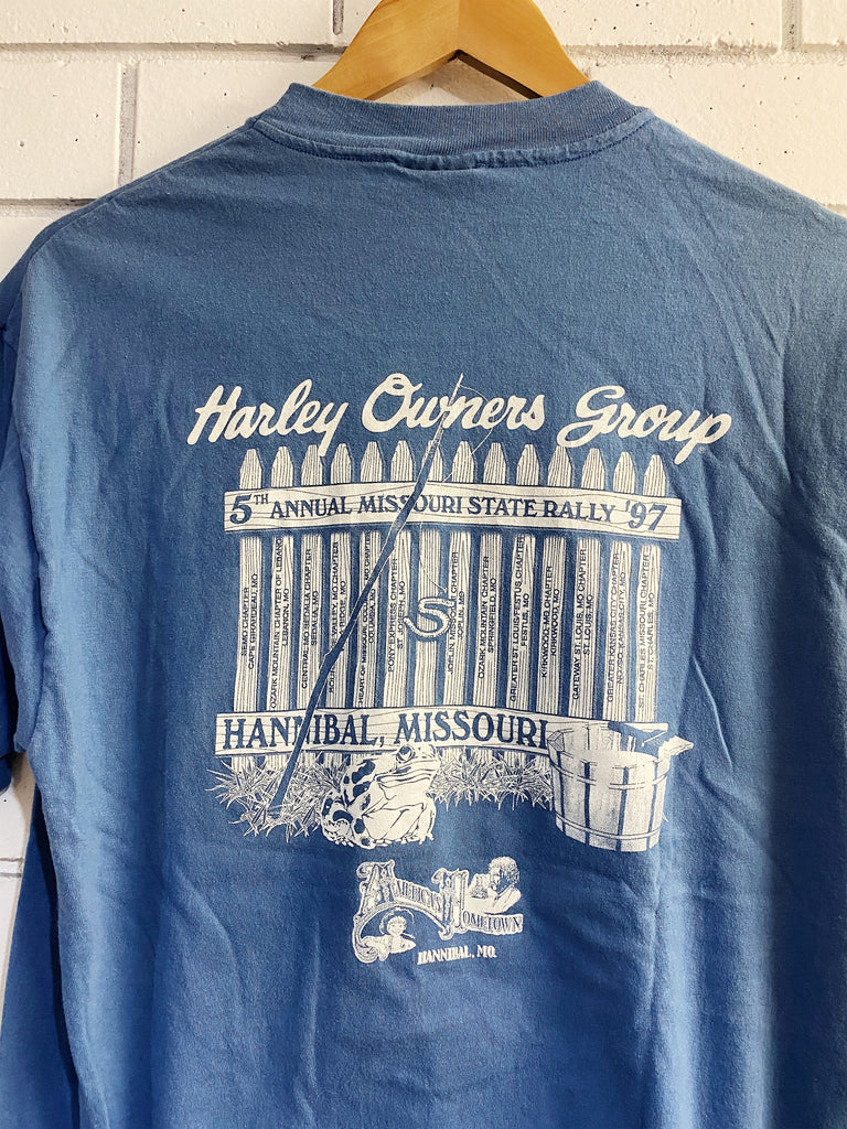 Vintage Harley - 1997 Missouri State Rally Blue Tee - Large