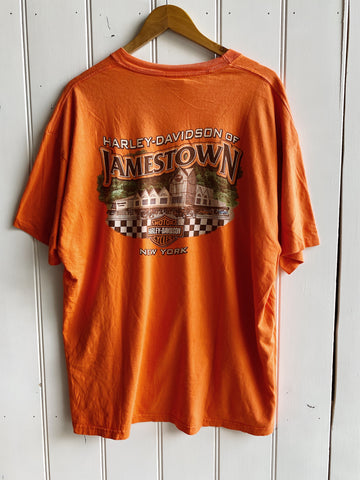 Preloved Harley - Jamestown NY Orange Tee - 2XLarge
