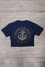 Load image into Gallery viewer, Anchors Crop - Navy
