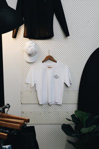 Surf Club Crop - White