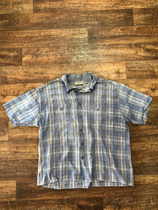 "Vintage ""WFTF"" Plaid Shirt - X-Large"