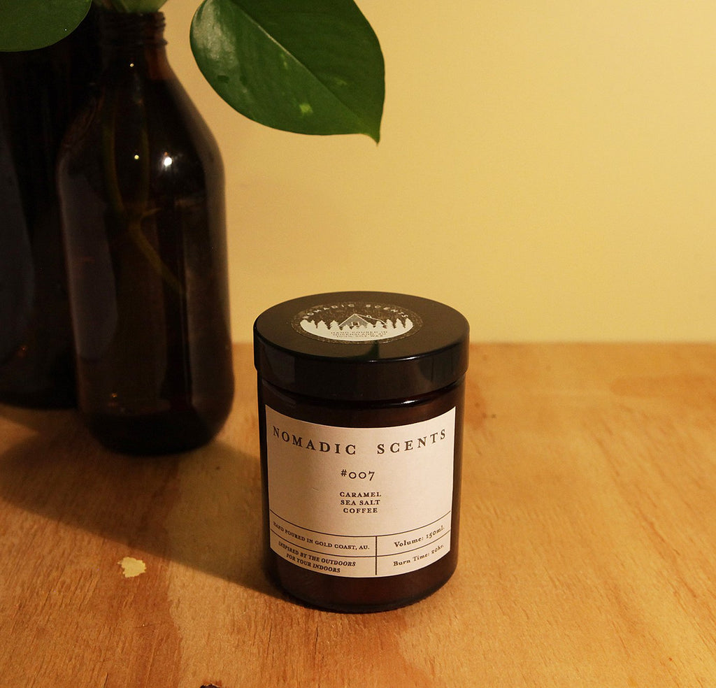 Nomadic Scents - #007 - Caramel / Sea Salt / Coffee - 150ml Candle