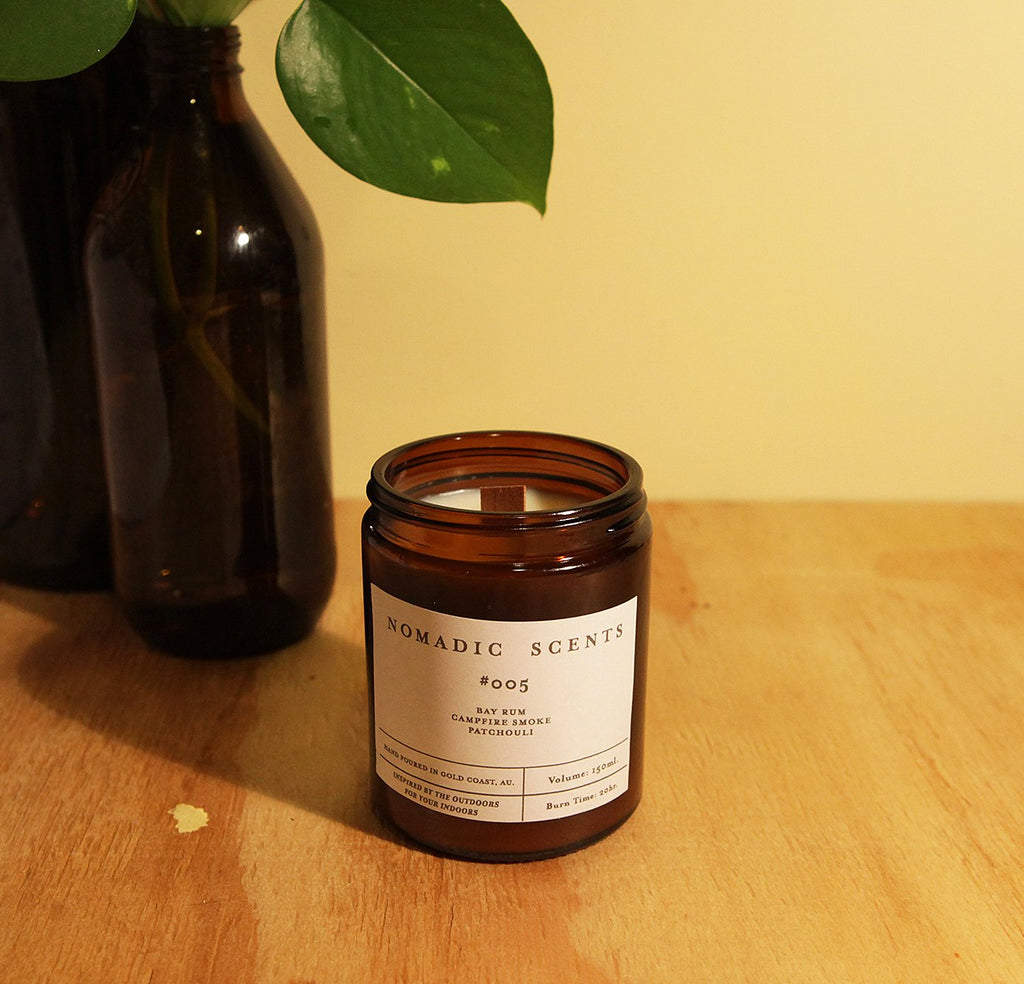 Nomadic Scents - #005 - Bay Rum / Campfire Smoke / Patchouli - 150ml Candle