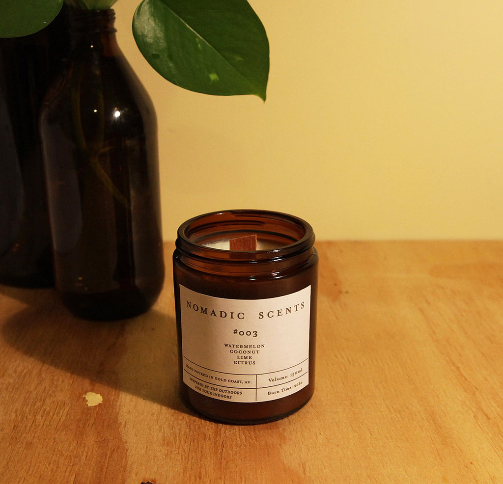 Nomadic Scents - #003 - Watermelon / Coconut / Lime / Citrus - 150ml Candle