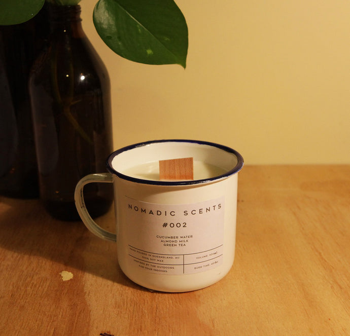 Nomadic Scents - #002 - Almond Milk / Green Tea / Cucumber Water - 300ml Candle