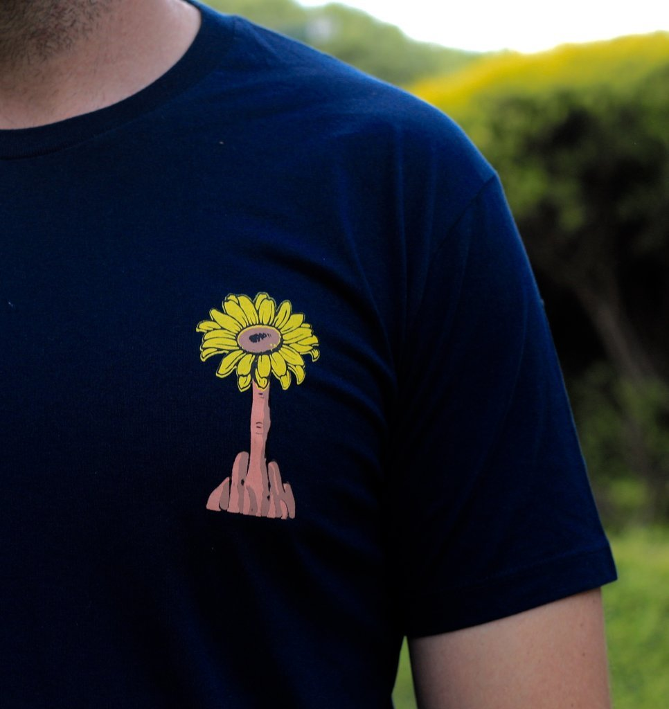 Lazy Sundae 'Flower Power - Navy' Tee
