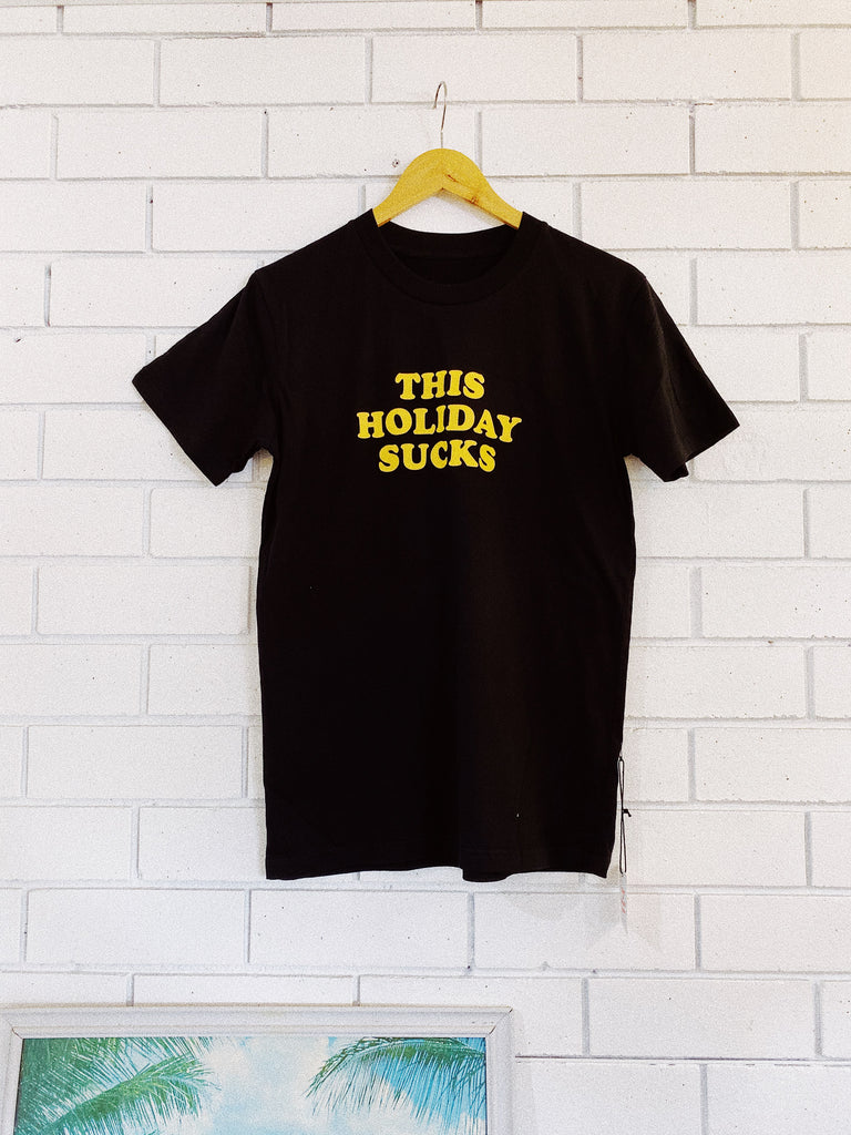 Lobster Shanty 'This Holiday Sucks' Black Tee