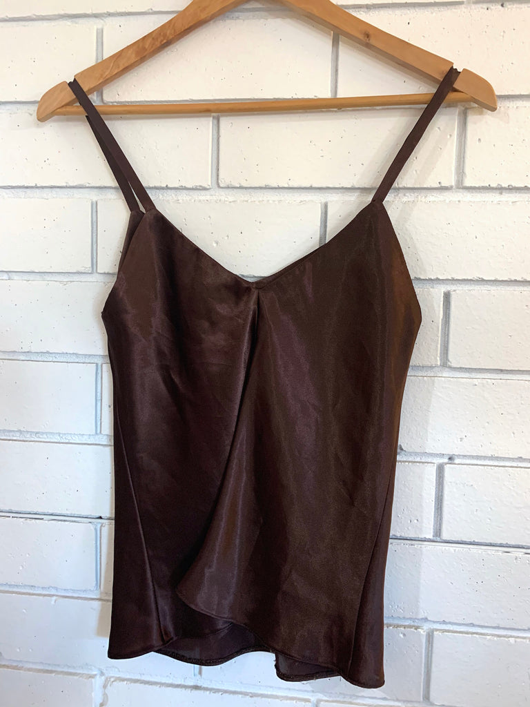 Pre-loved chocolate silky camisole Small