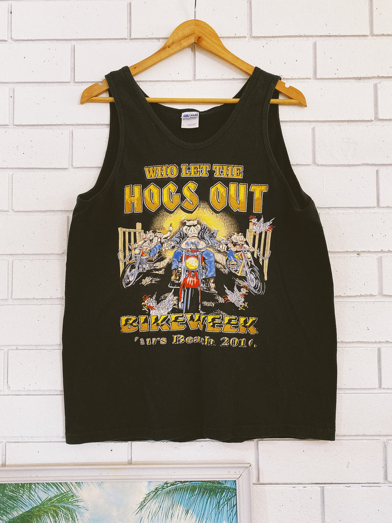 Vintage Hogs Out 2010 Singlet - Medium