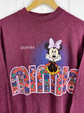 Vintage Cartoon - Florida Minnie Burgundy Sweatshirt - Large