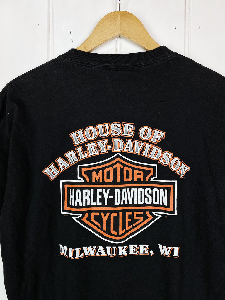 Preloved Harley - House Black Tee  - Large