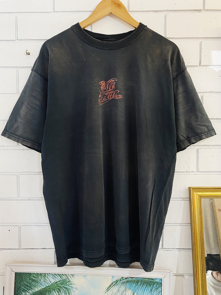 Vintage Surf - No Fear Faded Black Tee - XLarge