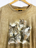 Vintage Animals - Wisconsin Wolves brown Tee - XLarge
