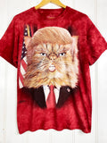 Preloved Animals -Trump Cat Red Tee - Medium