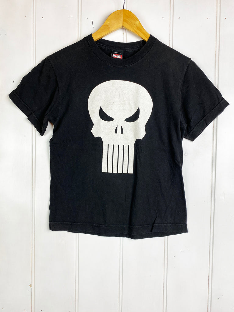Preloved Pop Culture - Marvel Punisher Black Tee - 2XSmall