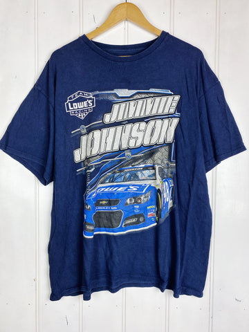 Preloved Nascar - Johnson 48 Blue Tee - Large