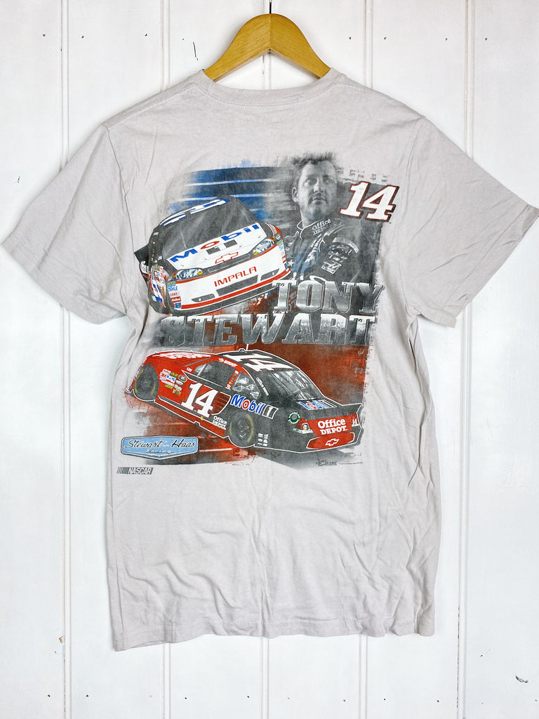 Preloved Nascar - Tony Stewart Off-White Tee - Small