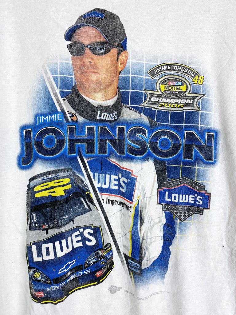 Preloved Nascar - Jimmie Johnson 06 Champion White Tee - Medium