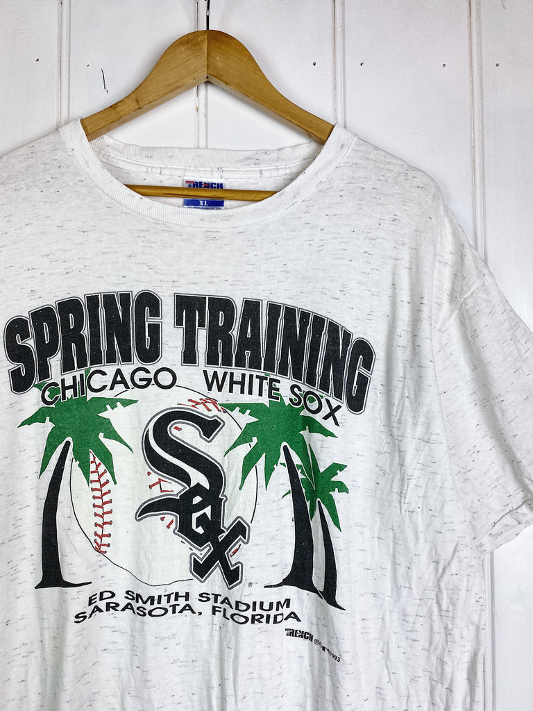 Vintage Sports - White Sox Training White Tee - XLarge